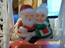 VTG 1979 Santa & Mrs. Claus Swinging on a swing musical Music Box Jingle Bells