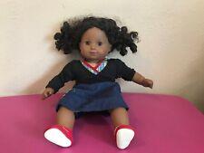 "Very Cute African American American Baby Girl Doll 16"" Moving Eyes"