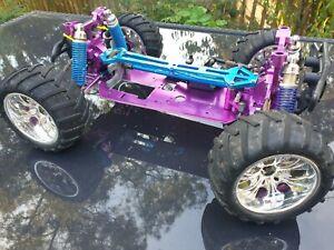 Upgrade Parts HSP RC 1/10 Electric Nitro Brontosaurus Monster Truck wheels alloy