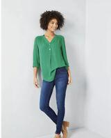 ModCloth Fervour Pam Breezly Green Popover Blouse Size 2X