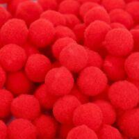 10mm Red Pom Poms For Kids Craft 50 Pack of Pompoms Decoration Small Mini Poms