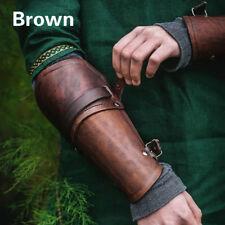 Unisex Outdoor Bracers PU Leather Gauntlet Wristband Cross Bracers Arm Armor