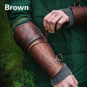 PU Leather Arm Guards Wristband Medieval Costume Bracers Wrist Guard Cosplay