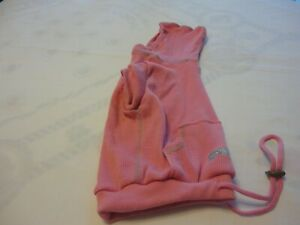 Doggy FASHION PET SIGNATURE Beautiful Hoodie Polyester/Cotton Color Pink  Size M