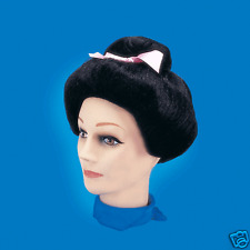 JAPANESE Wig Halloween Wig Party Woman Sexy Dress up Geisha ORIENTAL BLACK WIG