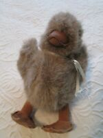 Gund 1986 Plush Chicken Chick Baby Suede Feet Leather Beak Stuffed Toy Tan