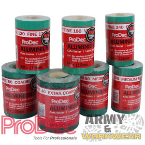 ProDec Ali Oxide 5 Metre Roll Aliminium Sandpaper Crack Resistant Trade Sander