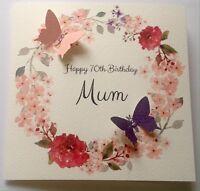Personalised 50th 60th 70th 80th 90TH 100th Birthday Card Mum Nan, Auntie, Nanny