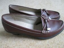 Tan Leather Mid Heel Vogue Loafers From Hotter Comfort Concept Size UK 8