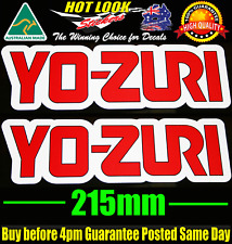 YO ZURI Lure Fishing Boat Stickers Vinyl Decal for dinghy tackle Box 4WD tinnie