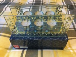Decorative Glass candle holder  gift new  and boxed