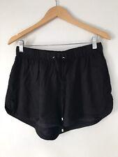 Ladie Shorts Size 12 Black Viscose Vero Moda <Z1390
