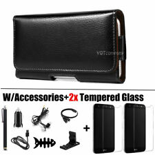 For Lg X Charge/Fiesta 2 Lte/Power 2 3/Lv7 Leather Case Pouch Holster Clip Cover