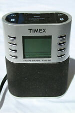 TIMEX T308S LCD Digital Clock AM/FM Radio w/ Auto-Set and Nature Sounds #D-4
