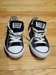 Converse All Star, Black Low Top, Unisex Youth Size 2