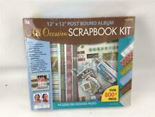 """Westrim All Occasion Boxed Album Kit 12"""" X 12"""" Post Bound Over 800 Pieces"""