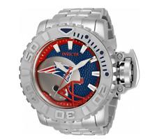 Invicta 70mm Full Automatic Sea Hunter Gen III NFL New England Patriots SS Watch
