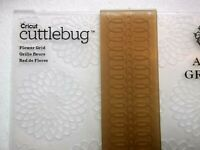 Cricut Cuttlebug Anna Griffin Flower Grid embossing folder New
