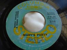 Soul 45 : Ronny Douglas & Bobby Lonero ~ Mary's Party ~ Columbia 4-45504 Promo