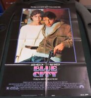 VTG 1 sheet 27x41 Movie Poster Blue City 1986 Judd Nelson Ally Sheedy