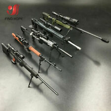 1/6 AWM MK14 DSR PSG-1 SVD TAC Sniper Rifle Weapon Assemble  Gun Model 6Pcs/set