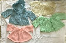Vintage Infant Hand Knitted Sweaters, Booties, Caps, Infants/Dolls