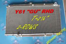 """T=2¼""""Aluminum Radiator""""Fit""""Nissan Patrol/Safari Y61 2.8T/3.0T/4.2 NA/T GU RHD AT"""