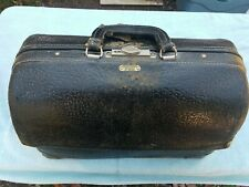Vintage Emdee By Schell Black Leather Doctor Bag with tools