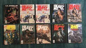 Heavy Metal Magazine Lot (10) 1992 1993
