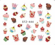 Cupcakes Muffins Nail Art Sticker Decal Decoration Manicure Water Transfer