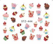 cupcakes muffins Manicura Pegatina Adhesiva Decoración Manicura transfer de agua
