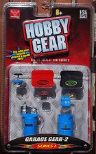 16055 Werkstatt Zubehör Werkzeug, Kompressor, Garage Gear 2, 1:24, Hobby gear