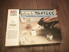WORD YAHTZEE DICE GAME MB GAMES with SCORESHEETS COMPLETE