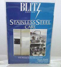 Blitz Stainless Steel Polish Care Polishing  Cloth Non Toxic    NEW
