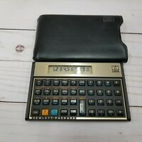 Vintage Gold Hewlett Packard HP 12C Financial Calculator with Protective Sleeve