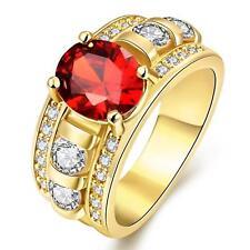 Damenring Zirkonia weiß Edelstahl 999er Gold 24 Karat vergoldet R3092S