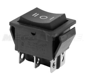 DPDT (ON)-OFF-(ON) 20 AMP/125VAC Momentary 6-Pin Rocker Switch KCD2 - USA SELLER