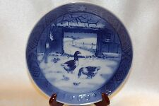"Bing Grondahl Blue 1969 Annual Christmas Collector 7"" Plate In the Old Farmyard"