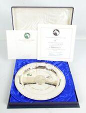 """Vintage Stuart Devlin argent """"Grundy 'Ltd edition plaque 103/500 Coffret + COA"""