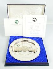 Vintage Stuart Devlin Silver 'Grundy' Ltd Edition Plate 103/500 Boxed + COA