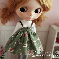 """【Tii】shirt dress outfit 12"""" 1/6 doll Blythe/Pullip/azone Clothes Handmade girl"""