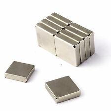 """Strong Magnets 1/2"""" x 1/2"""" x 1/8"""" Block * 3Kg Pull * Powerful Magnet 12mm 13mm"""