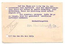 Stuttgart Germany Vintage Postcard Postkarte Hochlehnert & Co 1923 Postmark