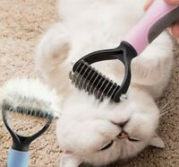 Pet Cat Dog Hair Brush Fur Shedding Trimmer Grooming Dematting Rake Comb Tool UK