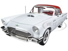 1957 FORD THUNDERBIRD WHITE CHRISTMAS ISSUE #3 LTD 1002 1/18 AUTOWORLD AMM1089