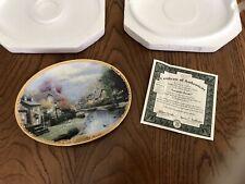 "Thomas Kinkade's: ""Lamplight Brooke"" plate - numbered"