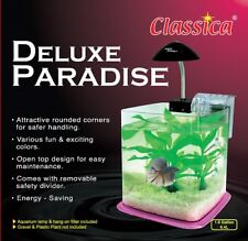 Betta Paradise Rose 6.4 L AQUARIUM FISH TANK Nano Starter Kit système lumineux