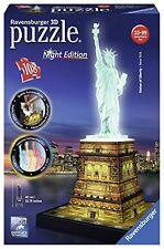 Ravensburger 12596 -nuit Edition: Statue de la liberté -Puzzle 3D, 108 pièces