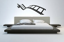 Wall Vinyl Sticker Decal Mural Design Movie Reel of Film Camera Action bo2381