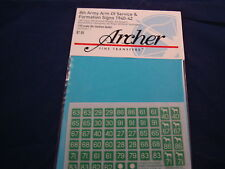 ARCHER FINE TRANSFERS 8TH ARMY ARM OF SERVICE SIGN FORMATION AR35067.7 1:35 NEW